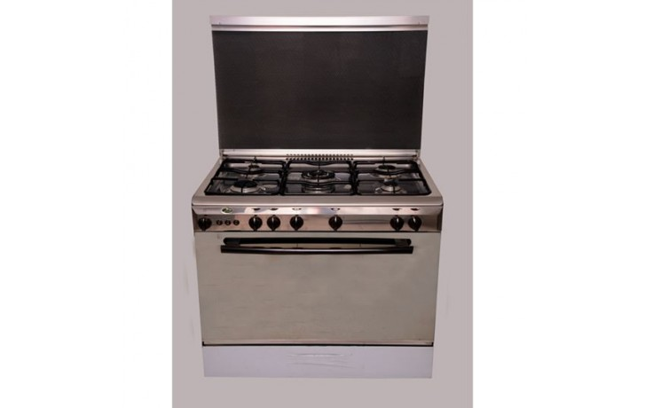 Kiriazi - 9600 - Cooker 5 Burners - Stainless Steel
